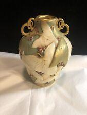 Antique Art Nouveau Paul Dachsel Pottery Vase Gold Trim Leaves & Berries Rare!!!