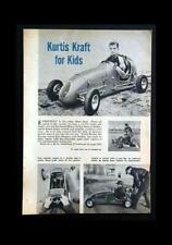 Frank Kurtis Kraft Sidewalk Racer Car 1954 pictorial