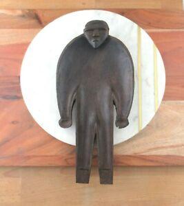 Rare Vintage Fijian Figural Daveniyaqona Bowl, Ritual Dish in the Shape of a Man