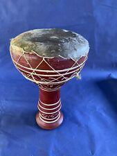 Bongo, Keramiktrommel - aus Ton mit Echt-Leder verspannt - ca.16 cm Ø