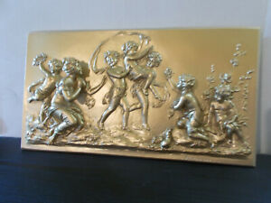 Cherubs plaque decorative Silicone Rubber Mould make plaques many times over
