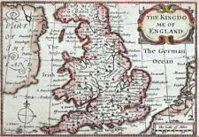 KINGDOM OF ENGLAND, Van Den Keere, Miniature Speed original antique map 1662