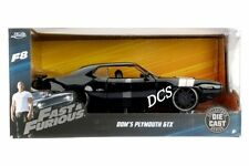 JADA FAST AND FURIOUS DOMS PLYMUTH GTX BLACK 1/24 DIECAST CAR MODEL  98292