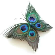 Peacock Hair Small Clamp Barrette