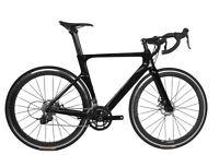 Road Bike Disc Brake Full Carbon 700C Bicycle Frame Wheels Clincher 28C 56cm