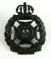 WW2 Canadian Royal Rifles of Canada cap badge - Blackened - 2 Lugs to Rear