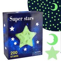 Ultra Glow in the Dark Stars; 200 Count w/ Bonus Moon