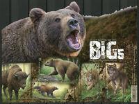 Belgium Wild Animals Stamps 2020 MNH Big 5 of Europe Bears Lynx Bison 5v M/S