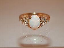 Australian OPAL Engagement Designer Ring 1.68 ct Diamond 14k Miss USA Collection