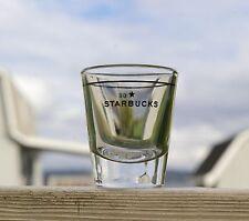 Starbucks Coffee Company Clear Shot Glass Black Star Logo One Ounce Line