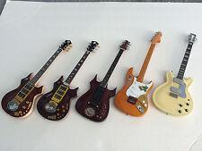 Set of Five (5) Grateful Dead Jerry Garcia Signature Mini Guitars -Free Shipping