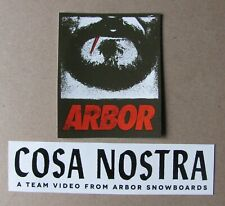 2 ARBOR Snowboards & Skateboards Stickers decals, Cosa Nostra, new