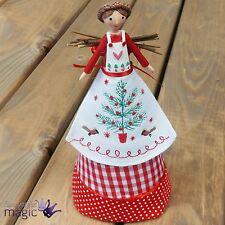 Gisela Graham Nordic Yule Christmas Tree Topper Angel Fairy Ornament Decoration
