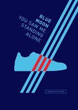Adidas Hombre City A4 260GSM Cartel ilustraciones Casuals Luna Azul