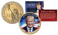 DONALD TRUMP 45th President USA 2016 Presidential $1 Dollar Golden U.S. Coin