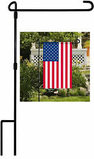 """Garden Yard Flag Pole Holder Stand Metal Wrought Iron Stake For 12""""x18"""" Flags US"""