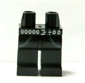 Lego 1 x Legs Leg For Minifigure Figure Black Pocket Belt Jeans