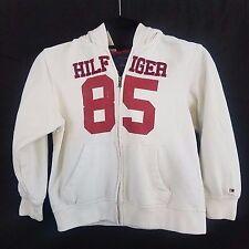 Tommy Hilfiger Boy's Jacket Size 7 Hoodie White Navy Blue & Red Full Zip