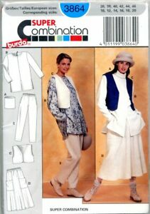 Uncut Sewing Pattern Ladies Pull on Skirt Pants Vest Tube tunic Top Size 10-20
