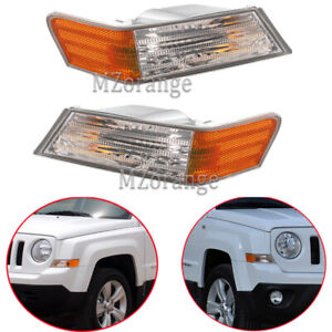 For Jeep 2007 08-2016 Patriot Pair Side Front Corner Park Light Turn Signal Lamp