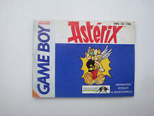 Notice d'origine instruction manual pour jeu game boy Astérix