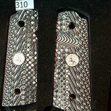 COLT COMPACT 1911 GRIPS,OFFICERS,DEFENDER,WEATHER PROOF,NON SLIP G-10,SALE #310