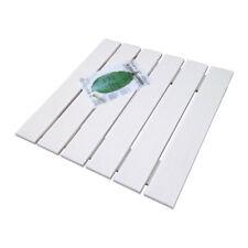 Pedana doccia in LEGNO ECOTECH bianco cm 49,5 x 49,5 per piatti da 70 x 70