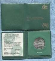 1988 SILVER $10 UNC First Fleet Ship Coin Governor Phillip Port Jackson pouch *