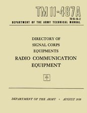 REPRINT TM 11-487A, RADIO COMMUNICATIONS EQUIPMENT, DIRECTORY OF SIGNAL EQUIPMNT