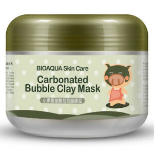 BIOAQUA Carbonated Bubble Clay Piggy Mask Clear Skin Deep Cleanse Nourishment