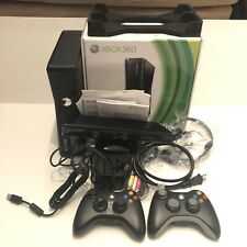 Xbox 360 Black 250GB Kinect 2 Remotes 3 Games Bundle w/ Original box