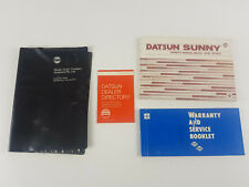 Datsun Sunny 1979 as new owners manual, warranty manual, dealers directory