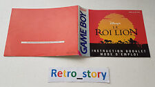 Nintendo Game Boy Le Roi Lion Notice / Instruction Manual
