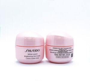 2 x Shiseido White Lucent Brightening Gel Cream 15 ml /.53 oz = 30 ml New UNBOX
