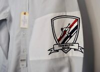 $590 THOM BROWNE Armband Skiier Oxford Button Down Shirt Size 1 Small S NWT
