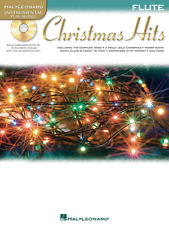 """INSTRUMENTAL PLAY-ALONG-FLUTE """"CHRISTMAS HITS"""" MUSIC BOOK/CD-BRAND NEW ON SALE!!"""