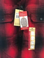 NEW Woolrich Mens XL Large Ultimate Flannel Campfire Red Plaid Shirt $59MSRP