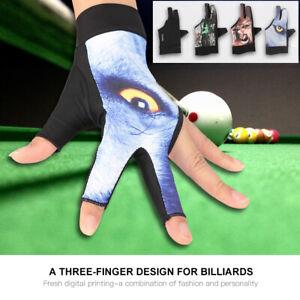 Boodun Spandex Snooker Billiard Cue Gloves Pool Left Hand Three Finger Accessory