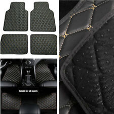Universal Black Car Front+Rear Seat Floor Carpet Mat Set Flooring Pad Easy Clean