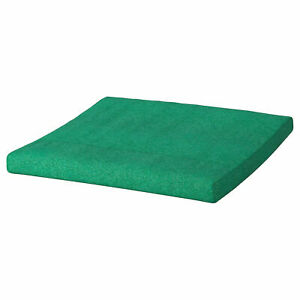 "IKEA POANG OTTOMAN CUSHION Lysed bright green POLY approx 20x2x22"" NEW FREE SHIP"