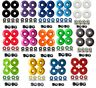 52mm Blank Pro Single Tone Skateboard Wheels w/ Bearings & Spacers