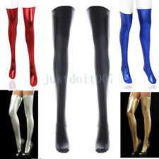 Sexy Women Girls Thigh-high Stockings Leather Long wet-look Socks Clubwear Party