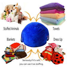 Stuffed Animal Storage Bean Bag Chair Cover for Kids and Adults Storage Bean Bag