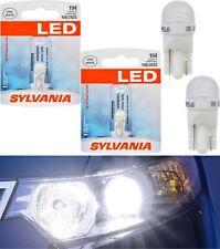 Sylvania LED Light 194 T10 White 6000K Two Bulbs Front Side Marker Stock JDM