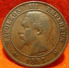 1857 B, 10 Centimes Napoléon III ,High Grade No reserve