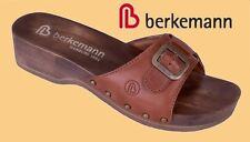 Pantoletten Damen Berkemann Holz Hausschuhe Pantoffeln Leder Schlappen 2,5 - 8,5
