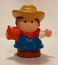 Fisher Price Little People Farmer Jed Boy Girl Seed Bag Straw Hat Kerchief 2001