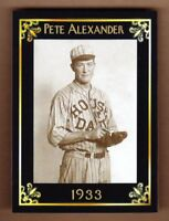 Pete Alexander '33 House of David exhibition team MC Heritage serial #/50