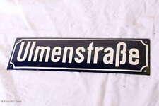 Schönes emailliertes Straßenschild / Ulmenstraße / Blechschild / Wanddekoration