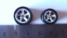 HOT WHEELS RUBBER TIRES 5 SPOKE CHROME X BIG AND BIG REAL RIDERS NEW